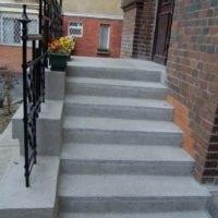 OÉTI új bejárati lépcső és új korlát építése